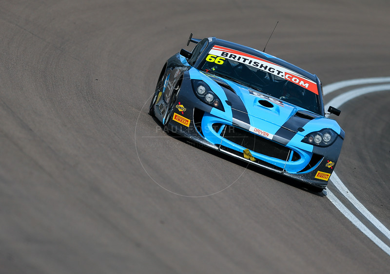 Simpson Motorsport Porsche Cayman GT4 Clubsport #66 driven by Nick Jones / Scott Malvern during the race for round 2 of the British GT championship held at Rockingham Motor Speedway, Corby, Northamptonshire from April 30th - May 1st 2016