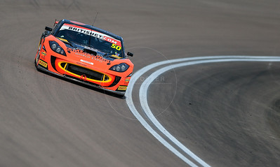 PMW Expo / Optimum Motorsport Ginetta G55 GT4 #50 driven by Graham Johnson / Mike Robinson during the race for round 2 of the British GT championship held at Rockingham Motor Speedway, Corby, Northamptonshire from April 30th - May 1st 2016
