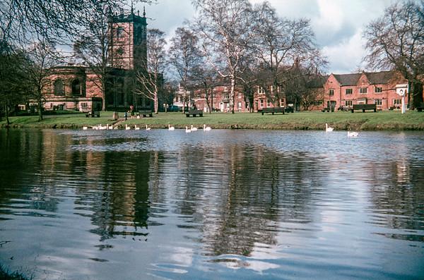 St Modwen's Church, across the River Trent