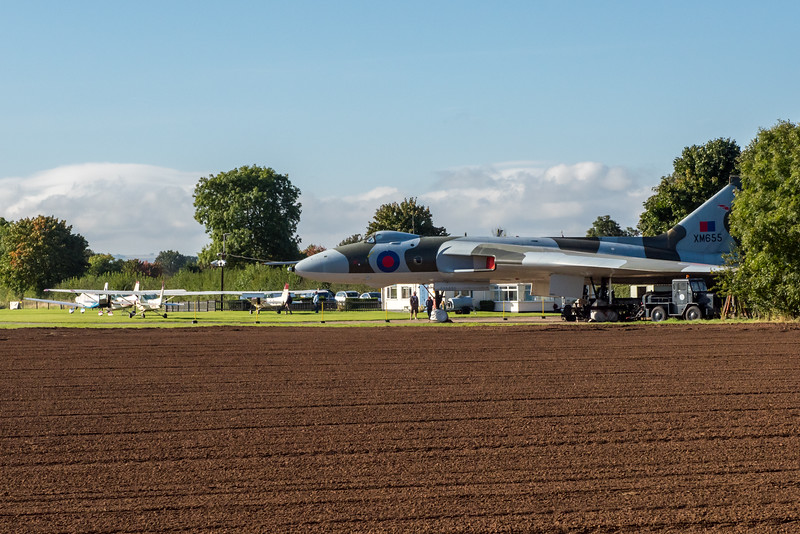 Vulcan XM655 at Wellesbourne Airfield.