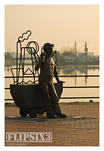 Sculpture of a mine worker