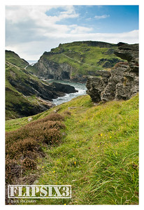 The cliffs at Tintagel, Cornwall