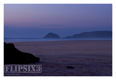 Dusk on Perranporth Beach