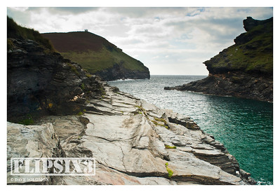 Looking ot to sea from the head of the estuary/inlet at Boscastle, Cornwall