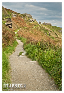 The path to Tintagel Castle, Cornwall