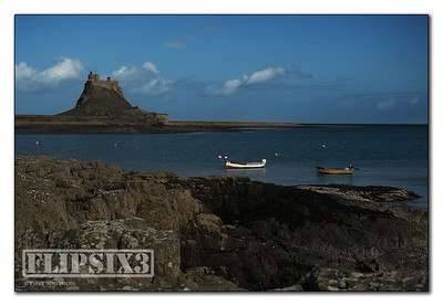 Holy Island Casle across the bay