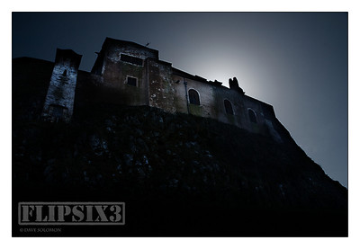 Holy Island Castle - composite of two shots - I was deliberately trying to create a very stark and 'medieval fantasy' feel