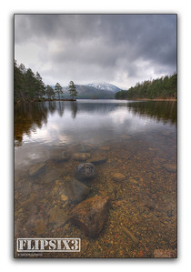 An HDR shot from Loch an Eilein - blending 3 exposures.