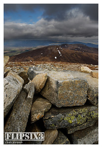 Views of/from Meall a'Bhuachaille: From the shelter of the cairn