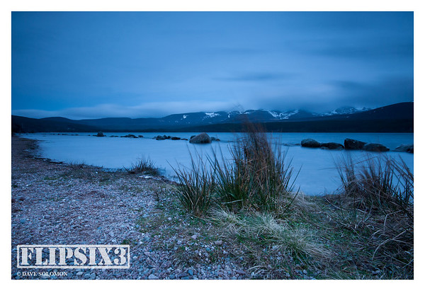 Series of post-sunset shots at Loch Morlich, with colour palette tweaked to emphasise the winter weather and temperatures.
