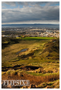 View out to the Firth of Forth from close to Arthur's Seat