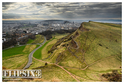 View of the city from close to Arthur's Seat