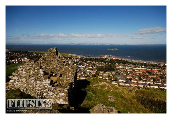 Looking out over North Berwick, from The Law (a conical hill formed by a volcanic plug) standing 187m above sea level