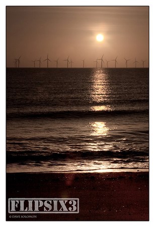 Windfarm off the east coast town of Skegness