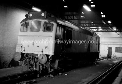 25005 23/8/83 Aberdeen Withdrawn 12/80 EDCut-Up 08/81 BREL Swindon Works