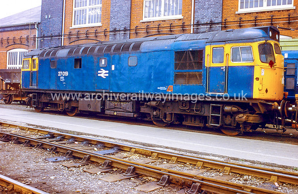 27019 1/6/84 Swindon Works   Withdrawn 05/84 ED	Cut-Up 05/85 BREL Swindon Works