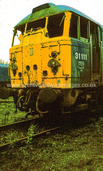 31111 3/5/84 Swindon Works Withdrawn 06/83 IM Cut-Up 07/86 Swindon Works