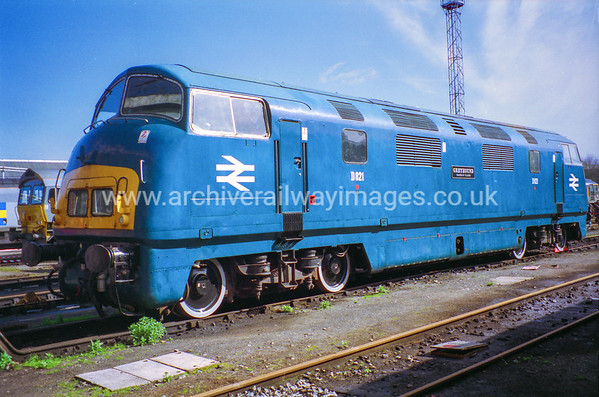 D821 Greyhound 19/3/94 Old Oak Common Depot Withdrawn 12/72 LANow Preserved / Private Owner as at 13/10/17