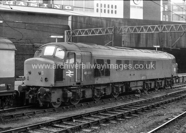 45005 31/10/81 Birmingham New Street Withdrawn 03/86 TO Cut-Up 12/88 Vic Berry, Leicester