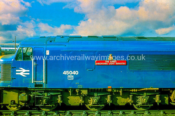 45040 The King's Shropshire Light Infantry 26/10/84 Leicester Withdrawn 07/87 TI Cut-Up 10/91 MC Metals Glasgow