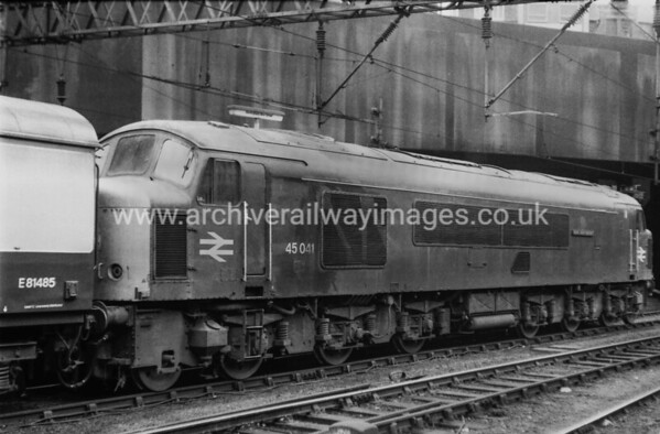 45041 Royal Tank Regiment 22/8/81 Birmingham New St. Withdrawn 06/88 TI Now Preserved / Private Owner as at 12/8/17