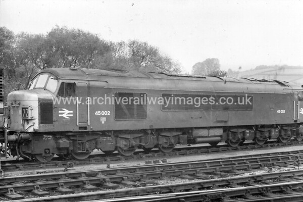 45002 4/5/74 Exeter St. Davids Withdrawn 09/84 TO Cut-Up 11/88 MC Metals Glasgow