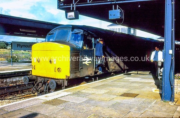 46011 29/9/84 Plymouth ex.09.11 Manchester Piccadilly-Newquay Withdrawn 11/84 GDCut-Up 01/86 Swindon Works