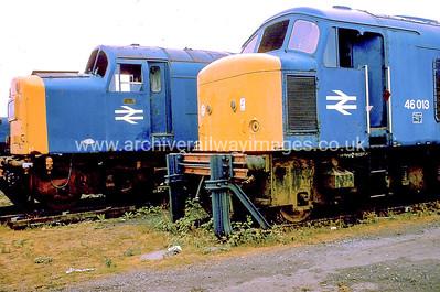 46013 1/6/84 Swindon Works Withdrawn 08/80 LACut-Up 04/85 Swindon Works