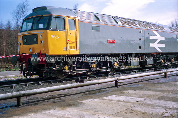 47016 Atlas 19/3/94 Old Oak Common Depot Withdrawn 12/98 BS	Cut-Up 04/00 EWS Wigan CRDC