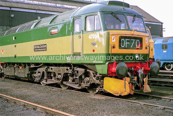 47004 Old Oak Common Traction & Rolling Stock Depot 19/3/94 Old Oak Common Depot Withdrawn 12/98 BS   Now Preserved by Embsay & Bolton Abbey Steam Railway as at 27/3/17