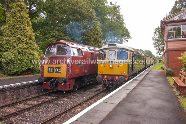 D1010 Western Campaigner & D6575 9/6/17 Crowcombe Heathfield D1010 Withdrawn 02/77 LA Now Preserved / Private Owner as at 29/8/17 D6575 Withdrawn 05/96 SL EWDB Now Preserved / Private Owner as at 29/8/17