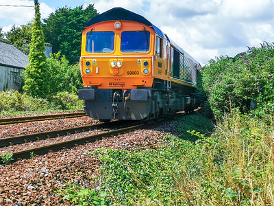 59003 Yeoman Highlander 14/7/21 Plymouth - 0Z62 ex.11.29 Penzance Route Learner
