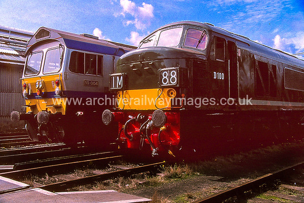 59004 Yeoman Challenger & D100 Sherwood Forrester 12/9/92 Bournemouth Depot