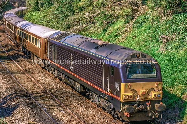 67006 Royal Sovereign 19/4/15 Stoke, Plymouth - ex.10.10 Penzance-Leeds