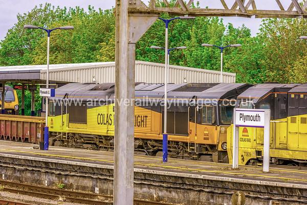 70809 & 66850 David Maidment OBE 17/5/15 Plymouth - 7C20 ex.02.30 Truro-Westbury