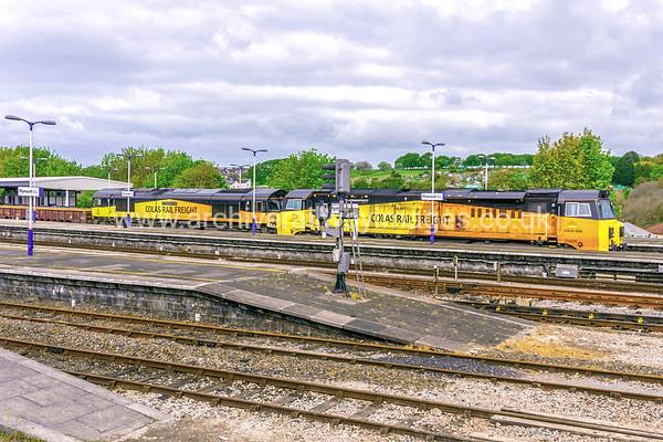 70809 & 66850 David Maidment OBE 17/5/17 Plymouth - 7C20 ex.02.30 Truro-Westbury