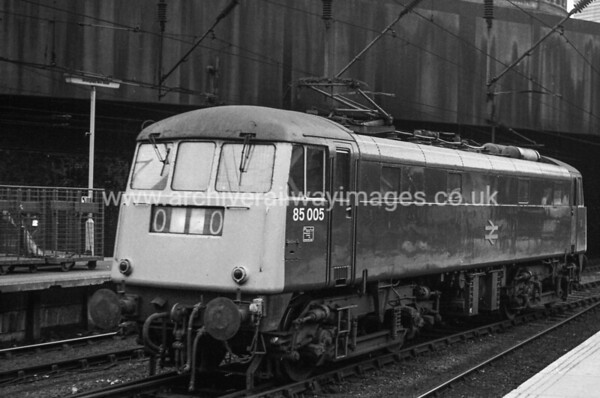 85005 14/11/84 Birmingham New St. Withdrawn 05/90 CE Cut-Up 01/93 MC Metals Glasgow