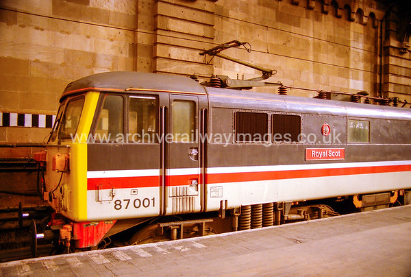 87001 Royal Scot 11/4/87 Watford Jct. Withdrawn 06/05 WBNow  Preserved / Private Owner as at 14/5/17