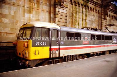 87023 Velocity 19/10/91 Glasgow Central Withdrawn 01/05 WNExported 11/12 Bulgaria
