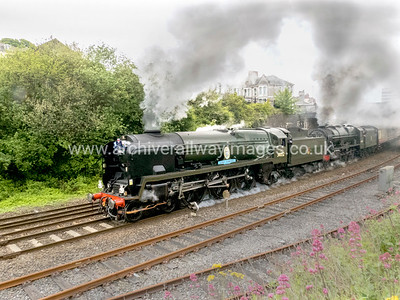 34052 Lord Dowding & 46100 Royal Scot 7/5/17 Mutley - 1Z46 ex 08.53 Penzance-Exeter St. Davids