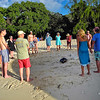 Memorial Service on Guavaberry Beach for Stan and Lynn Brooks from NYC...