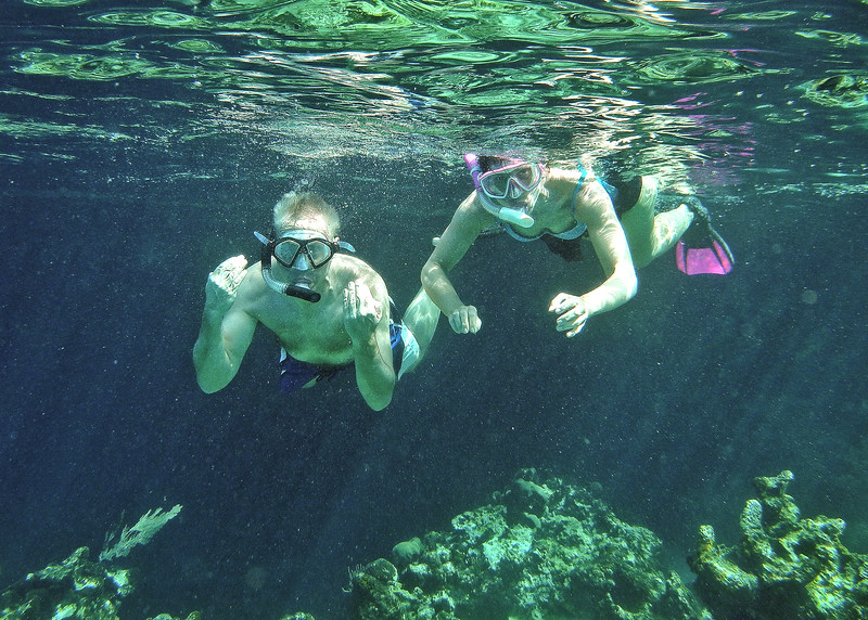 Athletic snorkelers ... fun to photograph
