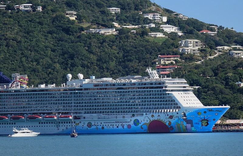 The painted floating hotel... in St. Thomas