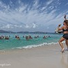 """Exercise on """"our"""" beach....Club Med style.... to boom box music"""
