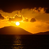 Sunset over Tortola, BVI