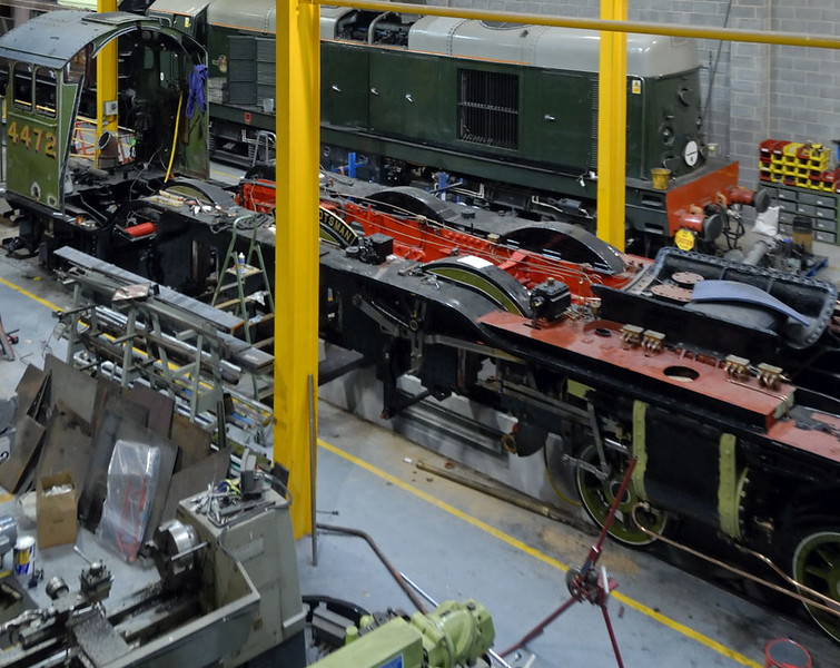 4472 Flying Scotsman in The Works, National Railway Museum, York, Sat 27 March 2010 2