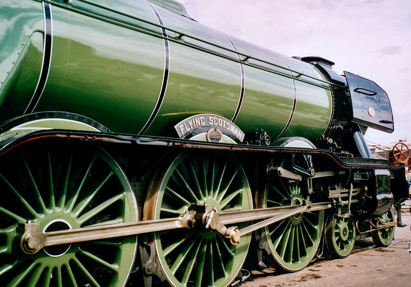 4472 Flying Scotsman in Doncaster Works open day, 27 June 2003