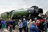 4472 Flying Scotsman, National Rly Museum Railfest, York, 29 May 2005.  Scotsman arrives at the NRM after its purchase for the national railway collection.