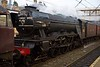 47746 Chris Fudge & 60103 Flying Scotsman, 5Z72, Lancaster, Wed 27 January 2016 2.  The A3's elegant lines are apparent even though Scotsman still wears Second World War austerity black with no nameplate.  NB the 34A King's Cross shed plate.