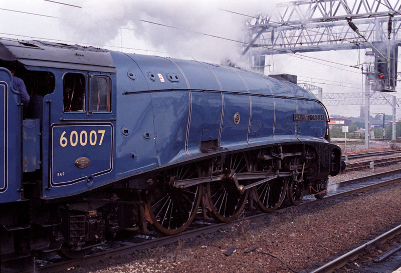 60007 Sir Nigwl Gresley, Crewe, 30 Sept 1995 1.  Awaiting departure on the Shap 'time trials' organised by Days Out.  46229 and 71000 also took part.